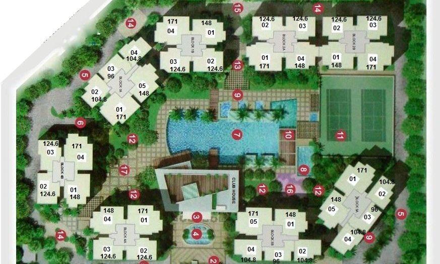 Mặt bằng chung cư căn hộ Estella quận 2